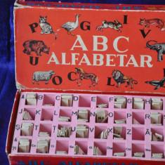 ABC - Alfabetar. Joc romanesc educativ 1975. Invata alfabetul.