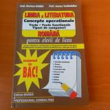 Limba si literatura romana, Concepte operationale. Examenul de BAC Mariana Badea