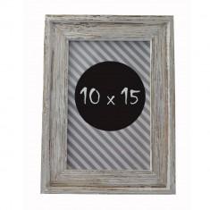 Rama foto vintage Darlene 10x15 din lemn