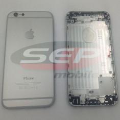 Capac baterie + mijloc + suport sim iPhone 6 WHITE original