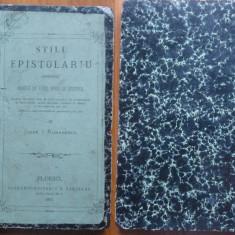 Stilul epistolar ; Modele de diferite specii de epistole , Ploiesti , 1875