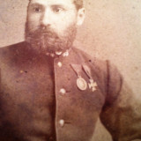 OFITER AUSTRO -UNGAR HERMANNSTADT 1887 - Fotografie veche