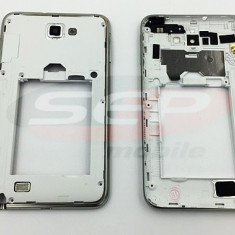 Carcasa mijloc Samsung Galaxy Note N7000 WHITE originala