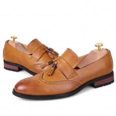 Pantofi eleganti Loafer. Cod BEL1. Disponibili in trei culori. COLECTIA NOUA! - Pantof barbat, Marime: 39, 41, 42, 43, 44, Culoare: Maro, Piele naturala