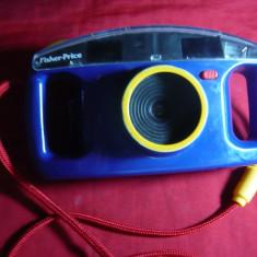 Aparat de Fotografiat Fisher Price 3815 -pt.copii model 1993 ,cu blitz ,L=16cm