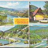 Bnk cp Jud Gorj - Vedere - uzata - marca fixa - Carte Postala Oltenia dupa 1918, Necirculata, Printata