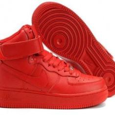 Ghete Nike Dama Air Force Rosu - Ghete dama Nike, Culoare: Din imagine, Marime: 36, 37, 38, 39, 40, 41, 42, 43, 44, Piele sintetica