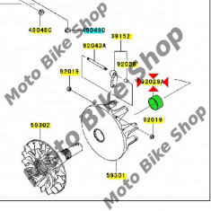 MBS Bucsa ax variator Kawasaki KFX700, Cod Produs: 920281975KA - Motocicleta Kawasaki
