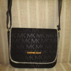 Geanta dama neagra MK Michael Kors+CADOU, Culoare: Din imagine, Marime: Medie, Geanta de umar, Negru, Asemanator piele