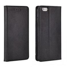 HUSA SAMSUNG GALAXY S6 (G920) NEGRU SMART MAGNET - Husa Telefon Nokia, Piele Ecologica, Cu clapeta