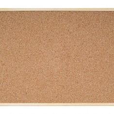 Panou cu afisaj pluta 60x45cm profil de lemn