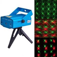 Laser disco lumini club Diferite Forme Jocuri de Lumini PUNCTE ROSI + VERZI - Laser lumini club
