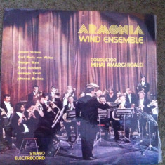 ARMONIA WIND ENSEMBLE DIRIJOR MIHAI AMARGHIOALEI DISC VINYL LP Muzica Clasica electrecord, VINIL
