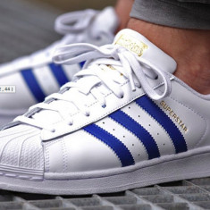 Adidasi originali Adidas Superstar - Adidasi barbati, Marime: 44, Culoare: Din imagine, Piele naturala
