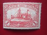 TIMBRE GERMANIA/COLONII NEU-GUINEA=MH, Nestampilat