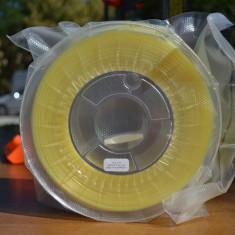 Filament PLA galben deschis semitransparent 100g - imprimanta 3D