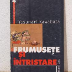 FRUMUSETE SI INTRISTARE- YASUNARI KAWABATA - Roman, Humanitas, Anul publicarii: 2000