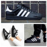 Adidasi Adidas Superstar Barbati negru - Adidasi barbati, Marime: 36, 37, 38, 39, 40, 41, 42, 43, 44, Culoare: Din imagine, Piele sintetica