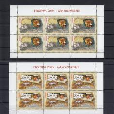 ROMANIA 2005, LP 1683b, EUROPA 2005- GASTRONOMIE COLI DE 6 TIMBRE MNH - Timbre Romania, Nestampilat