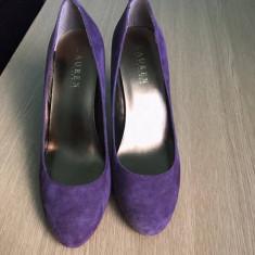 Pantofi Ralph Lauren - Pantof dama Ralph Lauren, Culoare: Mov, Marime: 37