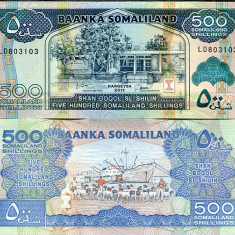 SOMALILAND- 500 SHILINGS 2011- P6- UNC!! - bancnota africa