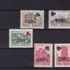 ROMANIA 1998, LP 1454, HOTELURI SI CABANE(UZUALE) 91 SUPRATIPAR TRIFOI MNH - Timbre Romania, Nestampilat