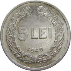 ROMANIA, 5 LEI 1949 * cod 48 - Moneda Romania, Aluminiu