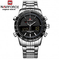 Ceas NAVIFORCE Military Yron Watch ORIGINAL 100% NOU - Ceas barbatesc Casio, Casual, Quartz, Inox, Alarma