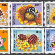 UNGARIA 1980, Fauna - Flora, serie neuzata, MNH