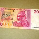 20 dolari 2007 ZIMBABWE seria A -2+1 gratis RBK18597