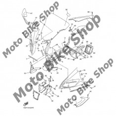 MBS Surub parbriz Yamaha, Cod Produs: 901500502300YA - Parbriz moto