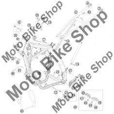 MBS Protectii cadru (abtidilde) KTM 125 EXC Europe 2008 #63, Cod Produs: 77303094000KT - Carene moto