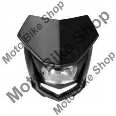 MBS Carena fata + far Polosport Halo, 12V 35/35W Halogen, negru, Cod Produs: 7168883MA - Far Moto