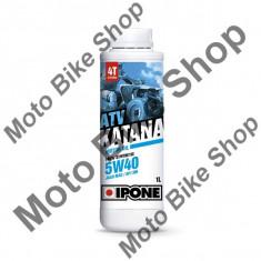 MBS Ulei ATV 4T Ipone Katana ATV 5W40 100% Sintetic - JASO MA2 - API SM, 1L, Cod Produs: 800163IP - Ulei motor Moto
