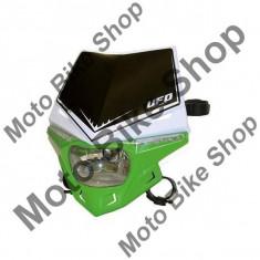 MBS Carena + far UFO Stealth, verde/alb, 12V 35W, Cod Produs: UF1715W026AU - Far Moto