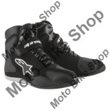 MBS Ghete moto impermeabile Alpinestars Fastback WP, negru-alb, 12.5=46, Cod Produs: 251001412125AU