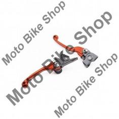 MBS Set manete rabatabile Zeta Flex Profi KTM SX/EXC125-450, Brembo...-13/Brembo, portocaliu, Cod Produs: DF444117AU - Maneta Moto