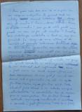 Manuscris din 4 foi al scriitorului Alexandru Paleologu