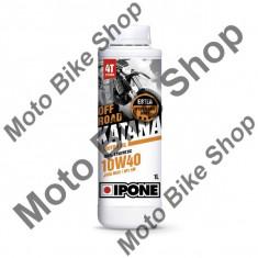 MBS Ulei moto 4T Ipone Katana Off Road 10W40 100% Sintetic ESTER - JASO MA2 - API SM, 220L, Cod Produs: 800409IP - Ulei motor Moto