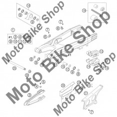 MBS Ghidaj bascula lant KTM 125 EXC Europe 2004 #13, Cod Produs: 54607066100KT - Brat - Bascula Moto