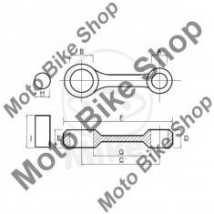 MBS Kit biela Yamaha YFZ 450 Y 5D3R AJ20W 2009, Cod Produs: 7560483MA - Kit biela Moto