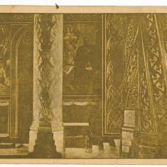 2253 - Arges, CURTEA DE ARGES - Interiorul Manastirii - old postcard - unused - Carte Postala Muntenia dupa 1918, Necirculata, Printata