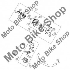 MBS Rulment pompa apa 6001.2RSR C3 KTM 660 SMC Europe 2004 #4, Cod Produs: 625060016KT - Ax pompa apa Moto