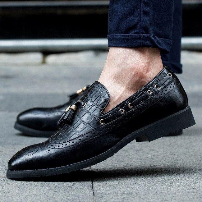 Pantofi barbatesti eleganti. Cod POS2.Disponibili in 3 culori:maro,negru,visiniu foto mare