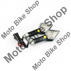 MBS Set lampi semnalizare cu leduri-carbon-romb, Cod Produs: MBS031109 - Semnalizatoare Moto