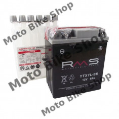 MBS Baterie moto + electrolit 12V6AH / YTX7L-BS / RMS, Cod Produs: 246610060RM
