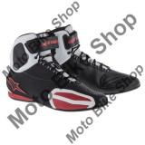 MBS Ghete moto Alpinestars Faster, negru-alb-rosu, 8.5=41, Cod Produs: 251021412385AU