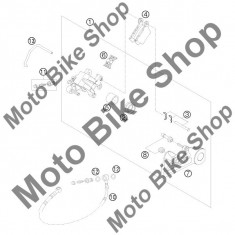 MBS Aerisitor etrier spate KTM 125 EXC SIX-DAYS 2011 #11, Cod Produs: 62513020000KT - Etrier frana Moto