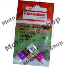 MBS Set sigurante Mini 2-7.5A 5buc., Cod Produs: 1493659MA - Sigurante Moto