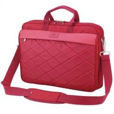 SUMDEX Passage PON-327, Geanta laptop, 15.6 inch, rosie, Geanta de umar, Nailon, Rosu
